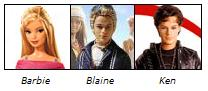 Barbie, Blaine, Ken