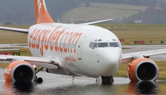 EasyJet in deep water
